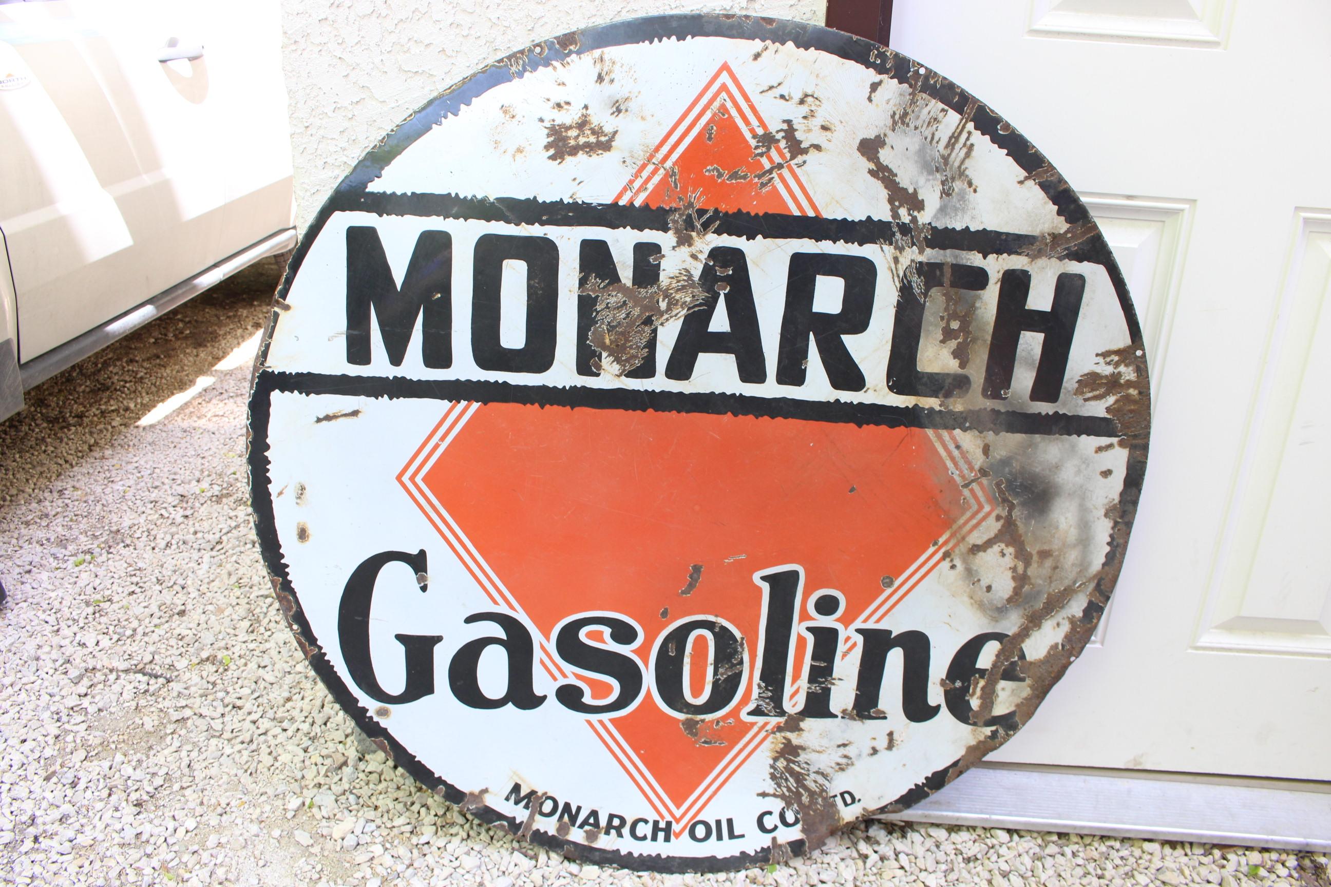 rare large gasoline porcelain sign - HD2592×1728